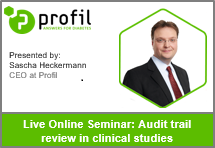 Online seminar audit trail review