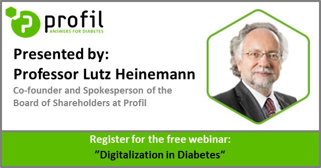 Free webinar on digitalization in diabetes by Prof. Lutz Heinemann